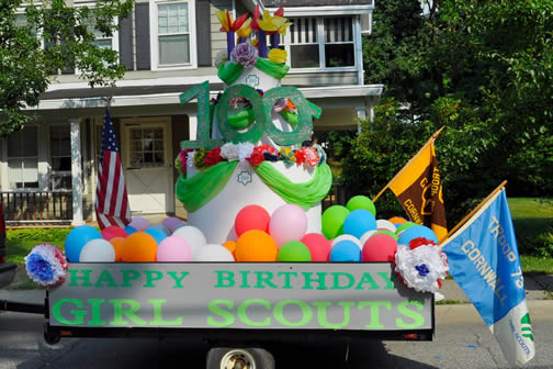Cornwall Girl Scout Fourth of July Float