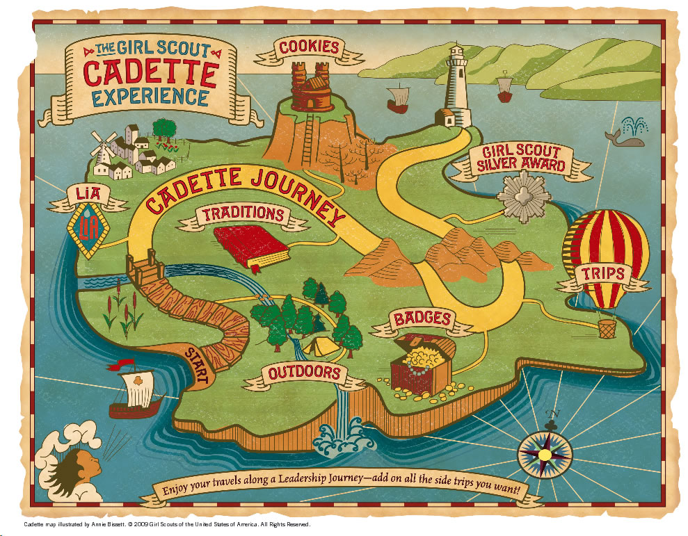 Cadettes Map