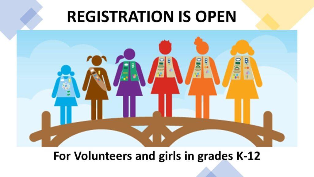 Registration is Open for volunteers and girls in grades k-12